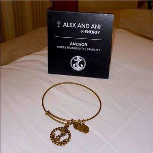 Anchor brass bracelet Alex & Ani